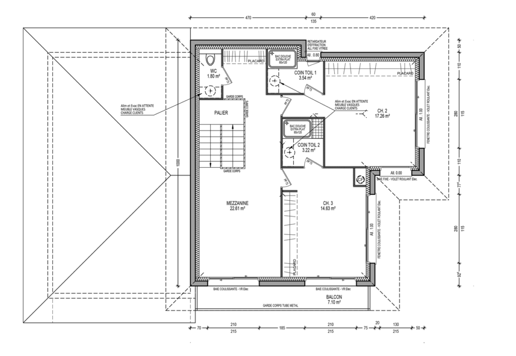 Plan-architect-architecture-sur mesure-construire-maison-constructeurs-savoie-haute savoie-73-74-etage-intérieur-