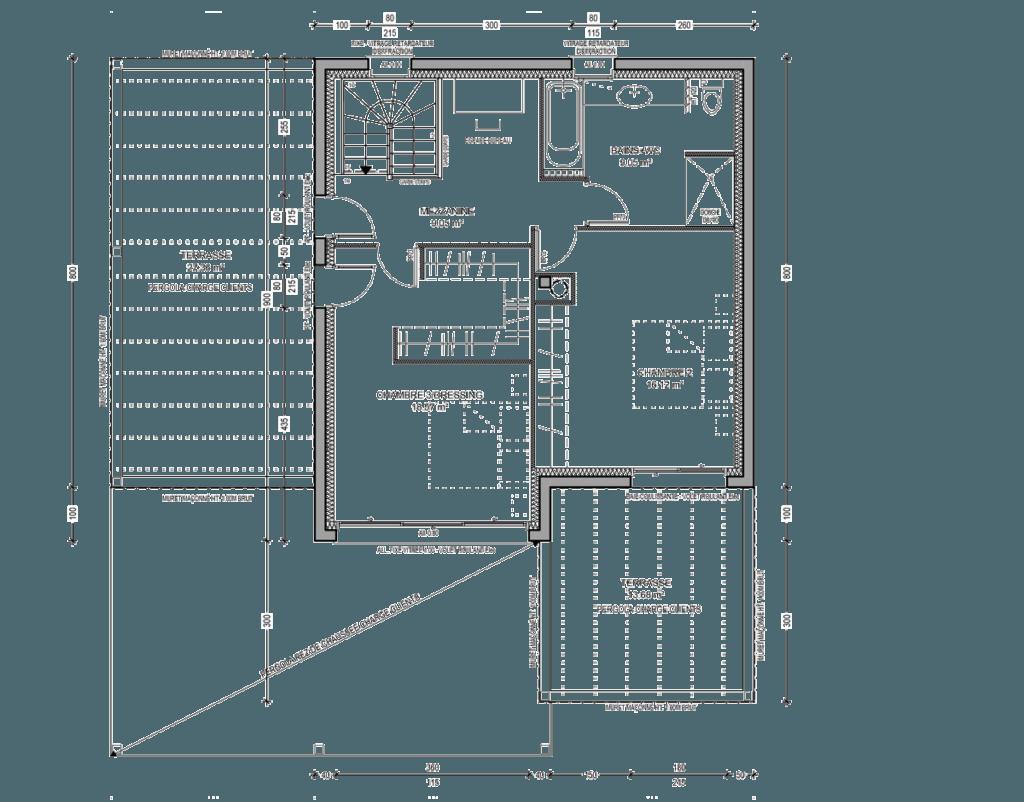 Plans-maison-etage-architecte-design-décoration interieur -esquisse